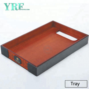 YRF Endurable Modern Design Plateau de service cuir marron pour Hôtel Supply