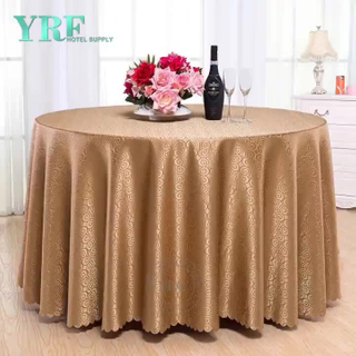 YRF mariage blanc Rosette ronde broderie Nappe