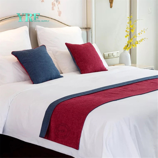 YRF Chambre King Microfibre Hôtel Bed Sheet Bed Runner